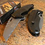 New MTECH Xtreme Spring Assisted Grey WHARNCLIFFE Tactical Folding Pocket Eco'Gift LIMITED EDITION Knife with Sharp Blade Great For Fun and Practical Use!