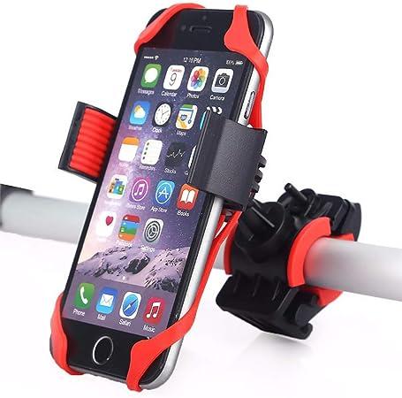 WDDMFR - Soporte de silicona para teléfono móvil de bicicleta, desmontable, antivibración, universal, soporte para teléfono de bicicleta, bicicleta de montaña, para smartphones de 3,5 a 6,5 pulgadas: Amazon.es: Hogar
