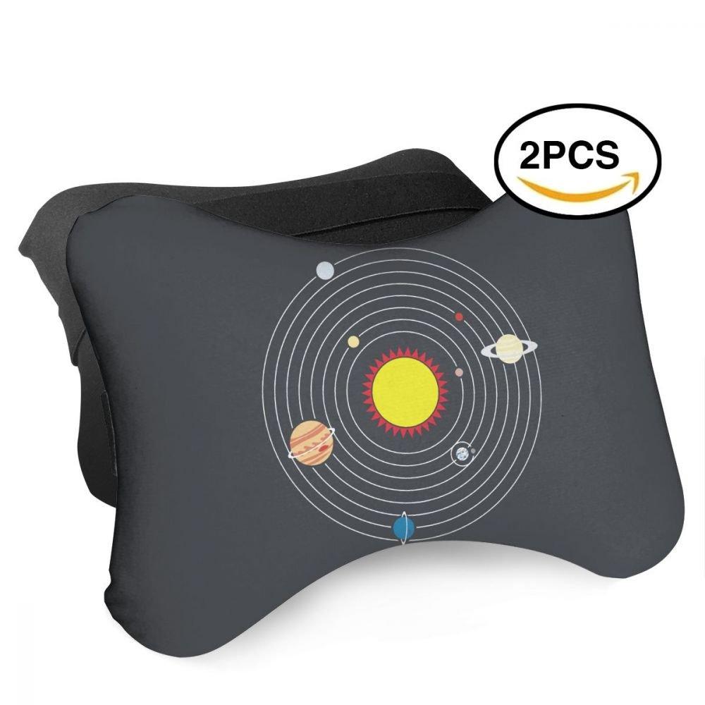 HASKDWHHK Solar System Planets Space Science Car Neck Pillow (Soft Version)- Neck Pillow, Car Pillow, Memory Foam Neck Pillow, Neck Rest Pillow