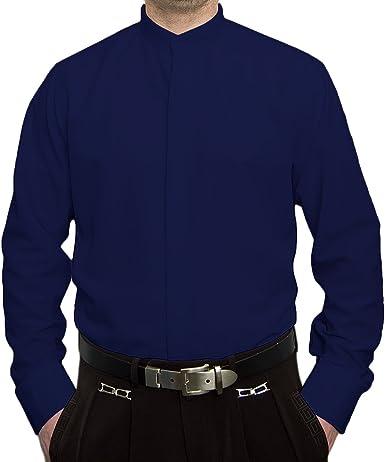 Pierre Martin Camisa Formal - Camisa - Básico - Cuello Mao - Manga Larga - para Hombre: Amazon.es: Ropa y accesorios
