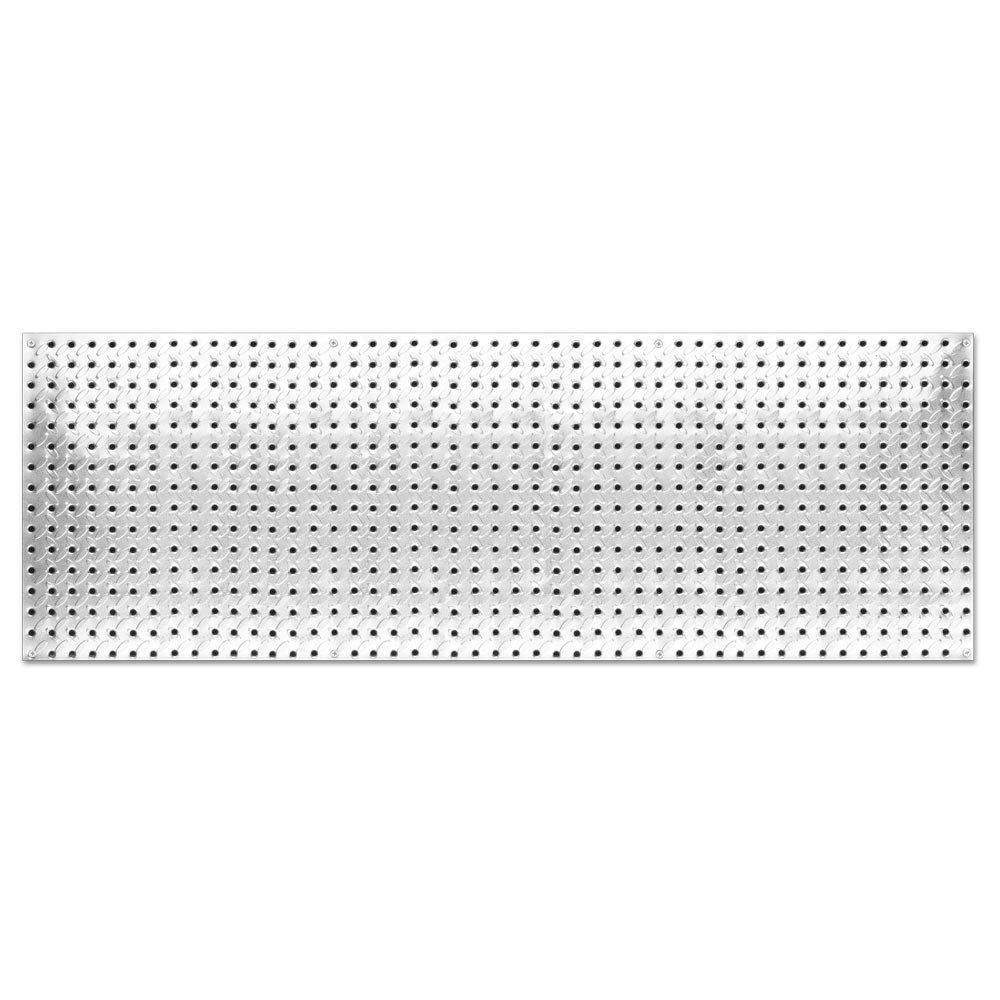 Knape & Vogt John Sterling Heavyweight Diamond Plate Steel Pegboard, 16 by 48-Inch