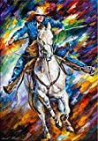 Cowboy is a Limited Edition print from the Edition of 400. The artwork is a hand-embellished, signed and numbered Giclee on Unstretched Canvas by Leonid Afremov. Embellishment on each of these pieces will be slightly different, but the image itself i...