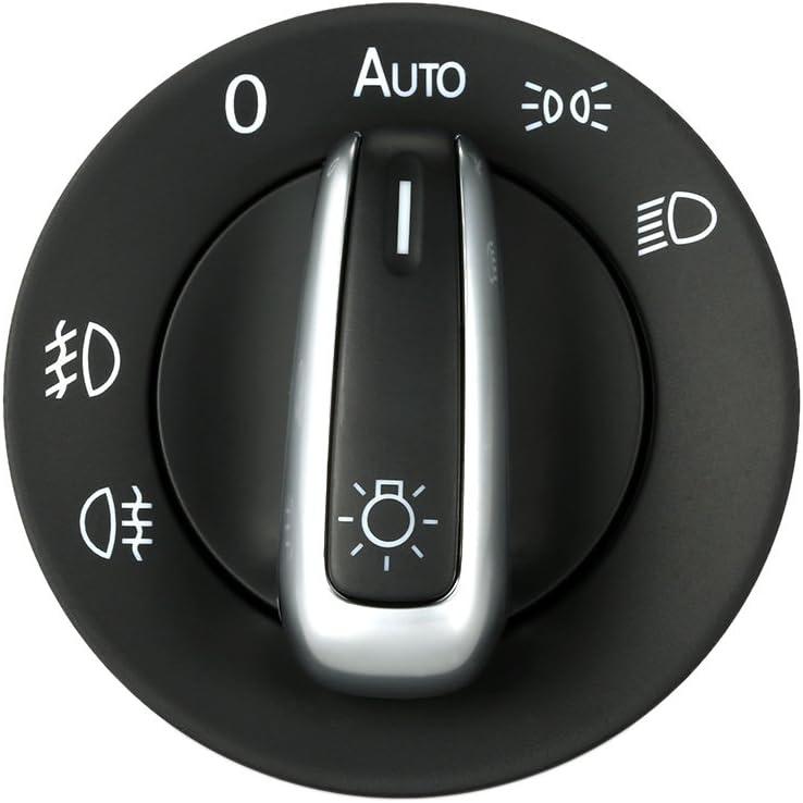 Kkmoon Schalter Scheinwerfer Control Switch Auto Nebel Licht Plating Knob Ersatz Zubehör Auto