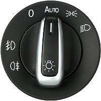 KKmoon SUT6820339596545RW Contrôle Commutateur Interrupteur De Voiture Phare Brouillard Placage Lumière Bouton Accessoires De Remplacement