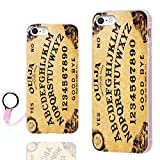 iPhone SE Case,iPhone 5s Case, iPhone 5 Case,ChiChiC [Orignal Series] Full Protective Case Slim Flexible Soft TPU Gel Rubber Cases Cover for Apple iPhone 5 5S SE,Yellow Funny Ouija Board