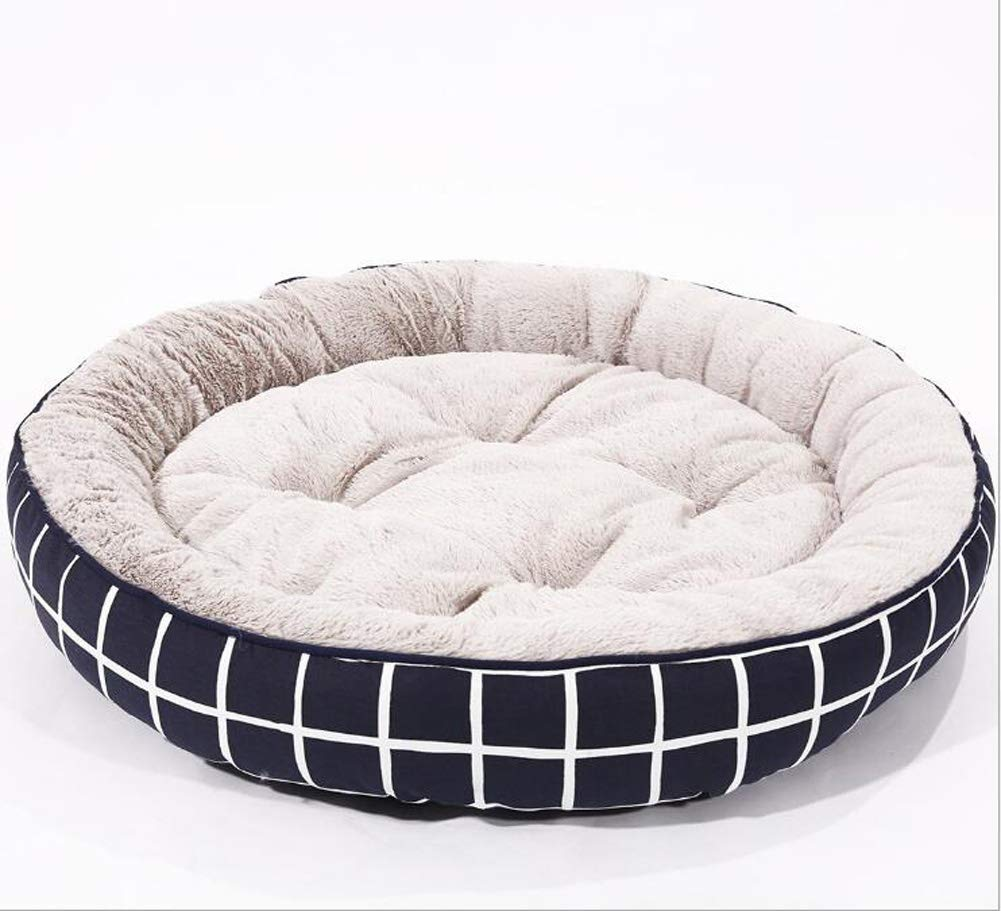 Medium Pet Nest Canvas Round Comfortable Breathable Kennel Cat Litter Three Sizes Optional Pet Supplies,57  15CM,M