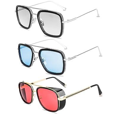Amazon.com: Tony Stark - Gafas de sol con marco de metal ...