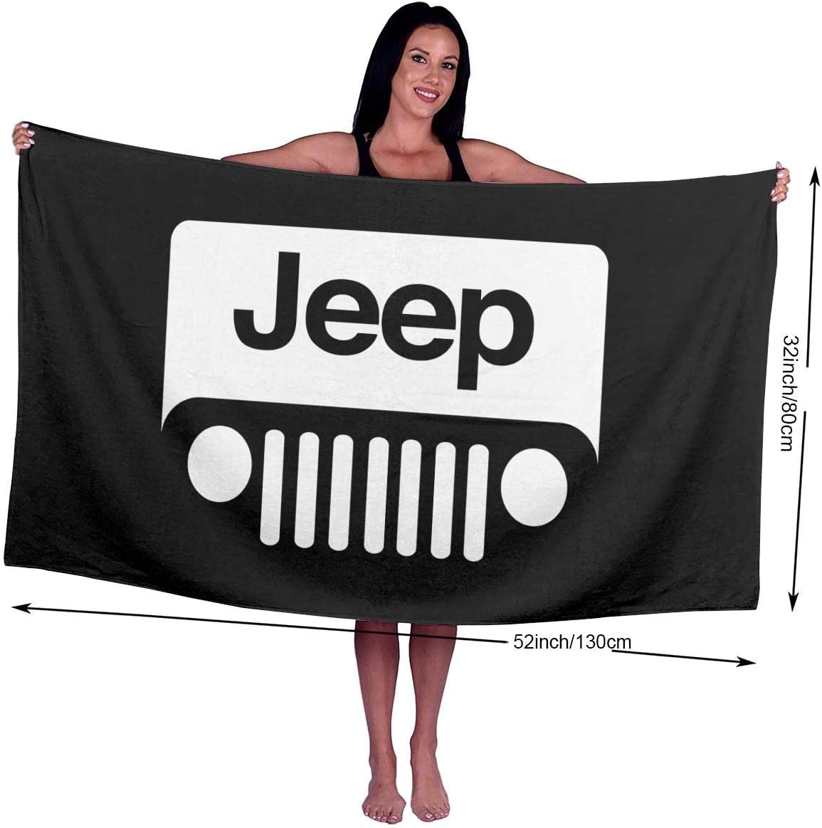 Ewtretr Telo//Asciugamano Mare Character Jeep Beach Towels Ultra Absorbent Microfiber Bath Towel Picnic Mat for Men Women Kids