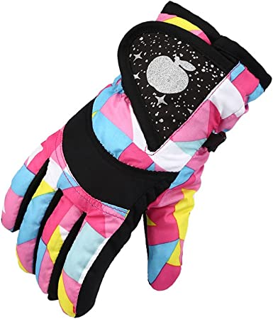 Azarxis Kids Snow Ski Mittens Childrens Waterproof Warm Winter Mittens for Boys Girls Animal