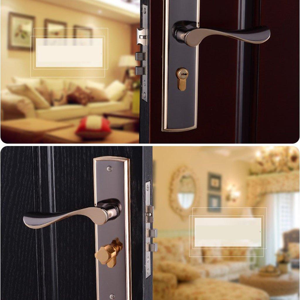 MagiDeal 3pcs Aluminum Alloy Door Handle Lock Home Entry Security Door Lockset for Bedroom Bathroom Latch 3 Keys by Unknown (Image #5)