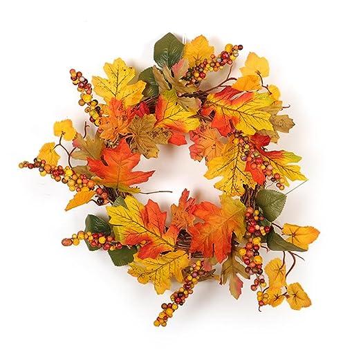 Amazon De Herbst Kranze Herbstkranz Deko Kranz Mit Beeren Obst
