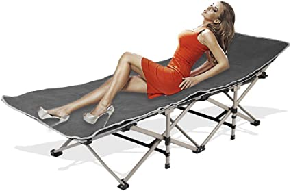 Folding Chair Bed Camp Cot Folding Cot Deluxe Collapsible Single Person Bed for Indoor /& Outdoor Ultra Lightweight Bed Portable cot Great for Car Camping Outdoor Travel,Hiking Mountaineering