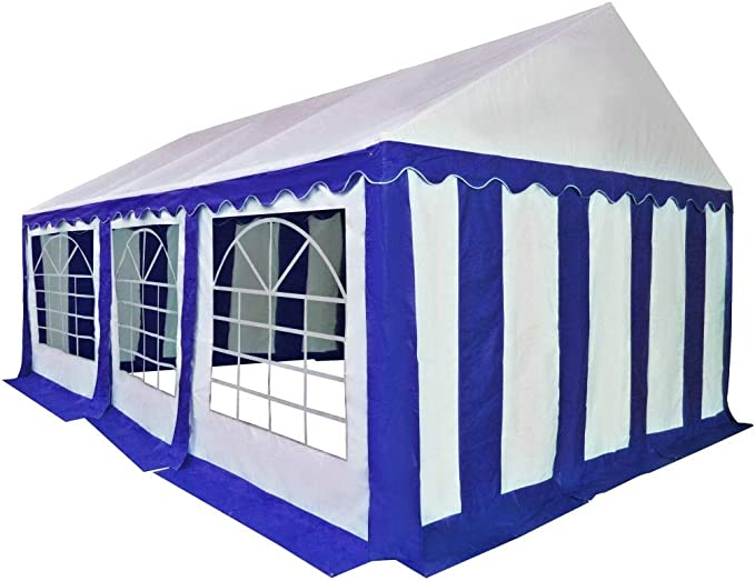 XINGLIEU Carpa de jardín de PVC 3 x 6 m Azul y Blanco pérgola toldo Material: Tela (500 g/m2) y Acero galvanizado: Amazon.es: Jardín