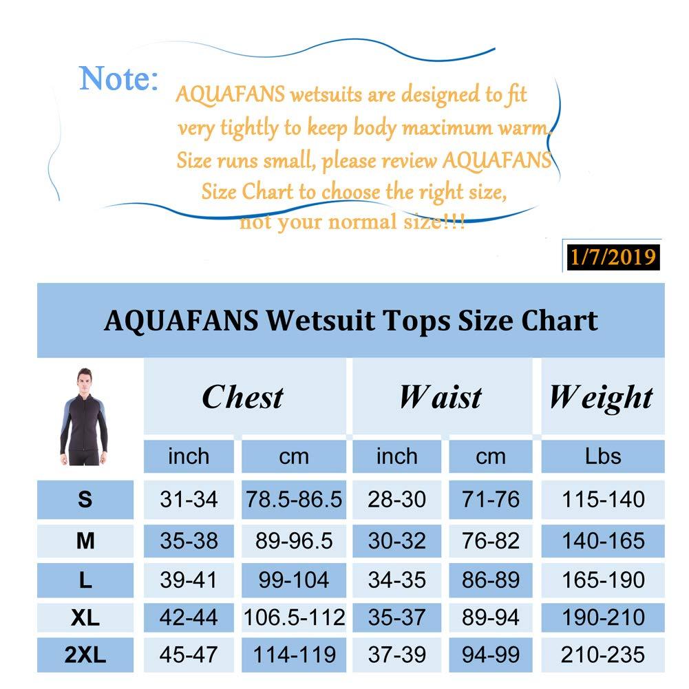 2MM Neoprene Long Sleeves Wet Suit Jackets//Scuba Diving Pants for Surf Snorkeling Kayak Canoe Two-Piece Full Suits VERYWELL AQUAFANS Mens Wetsuit Tops//Pants