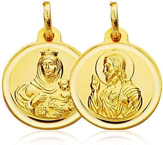 Médaille en or 18 carats. 20 mm de diamètre.