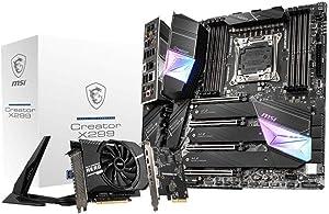 MSI Gaming Intel X299 LGA 2066 Thunderbolt M3 Wi-Fi 6 10G LAN DDR4 USB3.2 Gen 2 SLI CFX Extended ATX Motherboard (Creator X299), Model Number: CREATORX299
