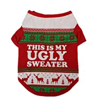 vmree Dog Apparel, Christmas Small Pet Dogs Clothing T-Shirt Puppy Costume