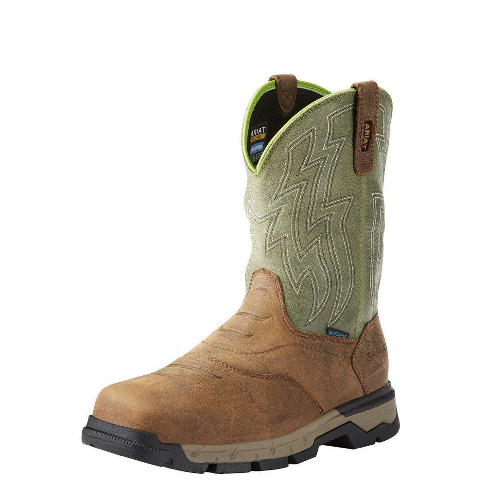 Ariat Work Men's Rebar Western H2O Composite Toe Work Boot, Rye Brown, 11 D US