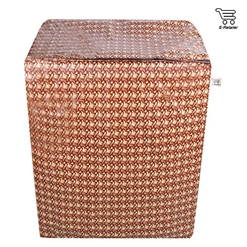 E-Retailer™ Brown Wooden Texture Design Semi-Automatic Washing Machine Cover Upto 7.5 Kg Capacity 61chN6vJDwL India 2021