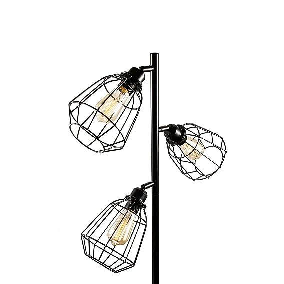 Oneach Tolbert Modern 3 Light Tree Floor Lamp 3 Bulbs Included