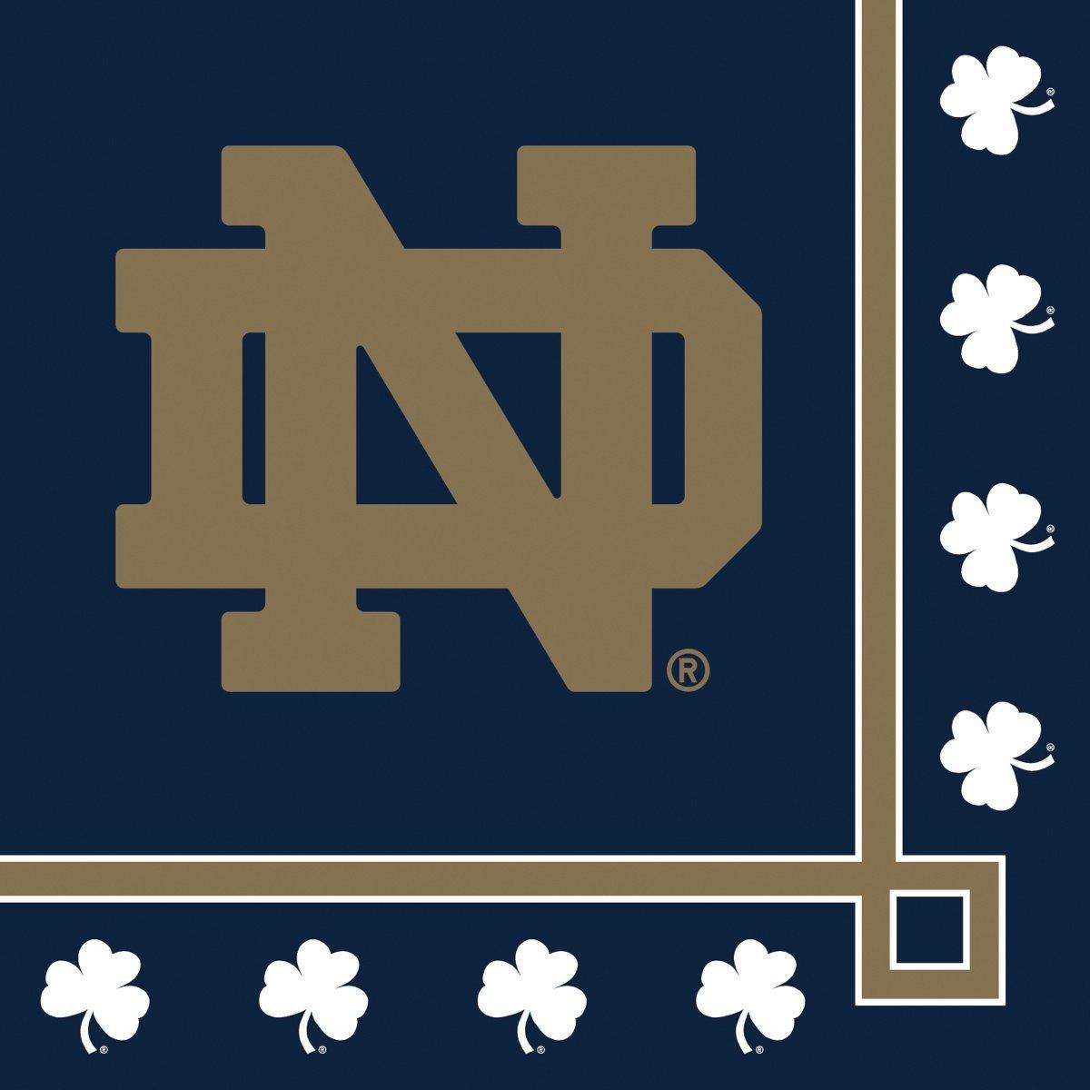 Notre Dame Fighting Irish Beverage Napkins, 20-Count