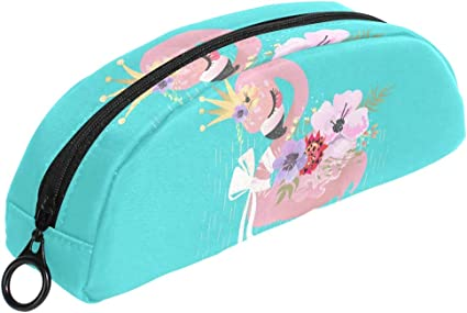 Queen Flamingo - Estuche para lápices con cremallera, pequeño neceser de maquillaje, para niños, niñas, adolescentes: Amazon.es: Oficina y papelería