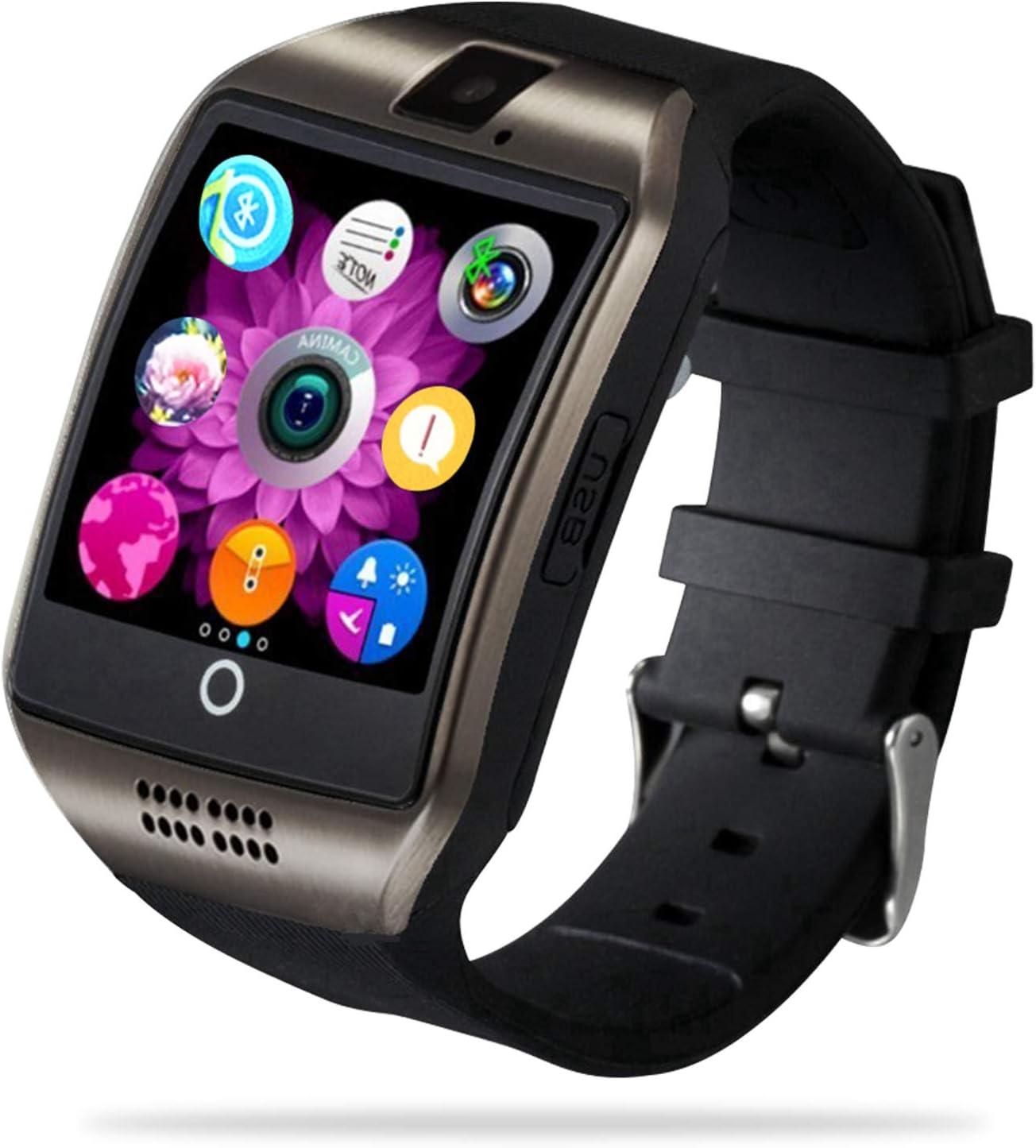 FENHOO Smartwatch, Reloj Inteligente Android con Ranura para Tarjeta SIM para Hombre Mujer niños, Pulsera de Actividad Inteligente para Deporte con Podómetro, Reloj de Fitness con Llamada y Cámara