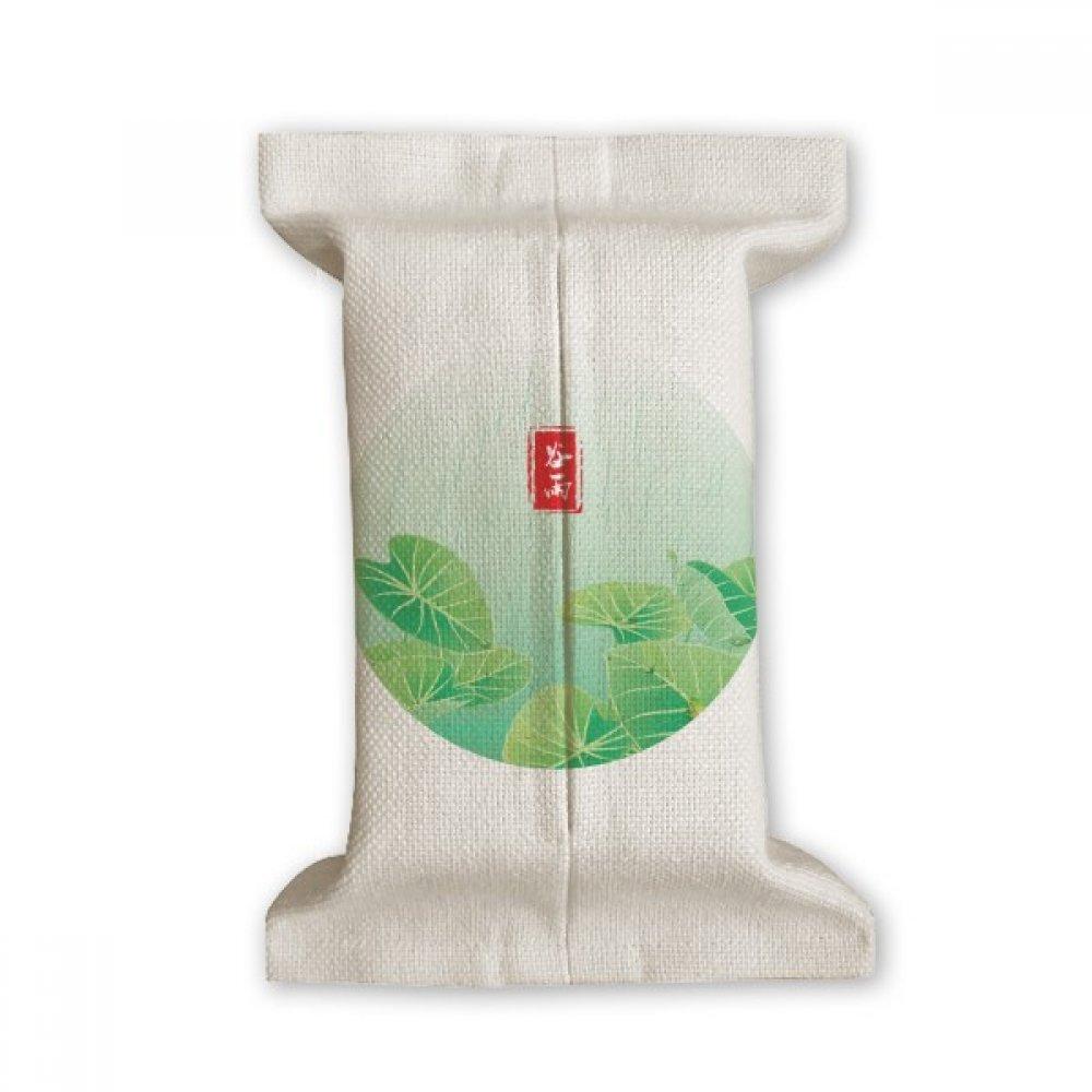 DIYthinker Circlar Grain Rain Twenty Four Solar Term Tissue Paper Cover Cotton Linen Holder Storage Container Gift