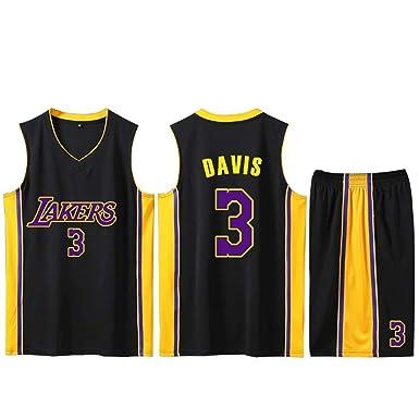 HXSON Camiseta de baloncesto para hombres - Los Angeles Lakers # 3 ...