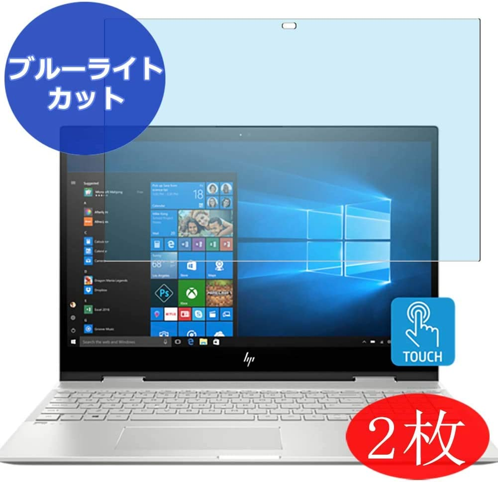 """【2 Pack】 Synvy Anti Blue Light Screen Protector for HP Envy x360 15-cn0013nr 15.6"""" Anti Glare Screen Film Protective Protectors [Not Tempered Glass]"""