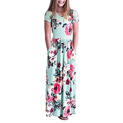 b8cb36f97 Birdfly Baby Girls Floral Maxi Dress Vibes Toddlers Casual Long ...