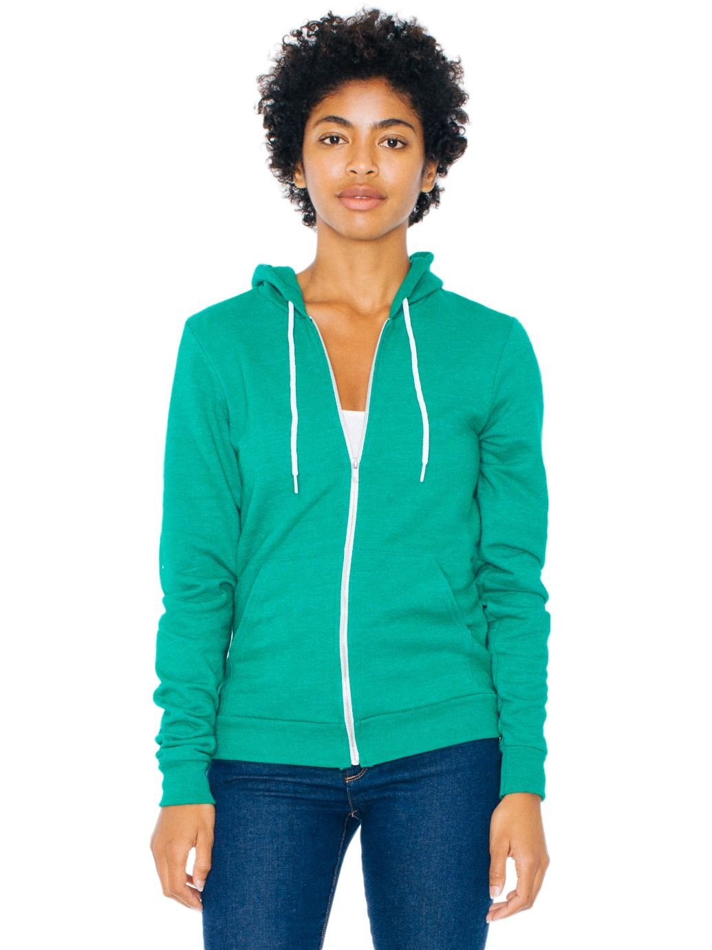 American Apparel Unisex Tri-Blend Hoodie - Tri-Vintage Green / XL by American Apparel