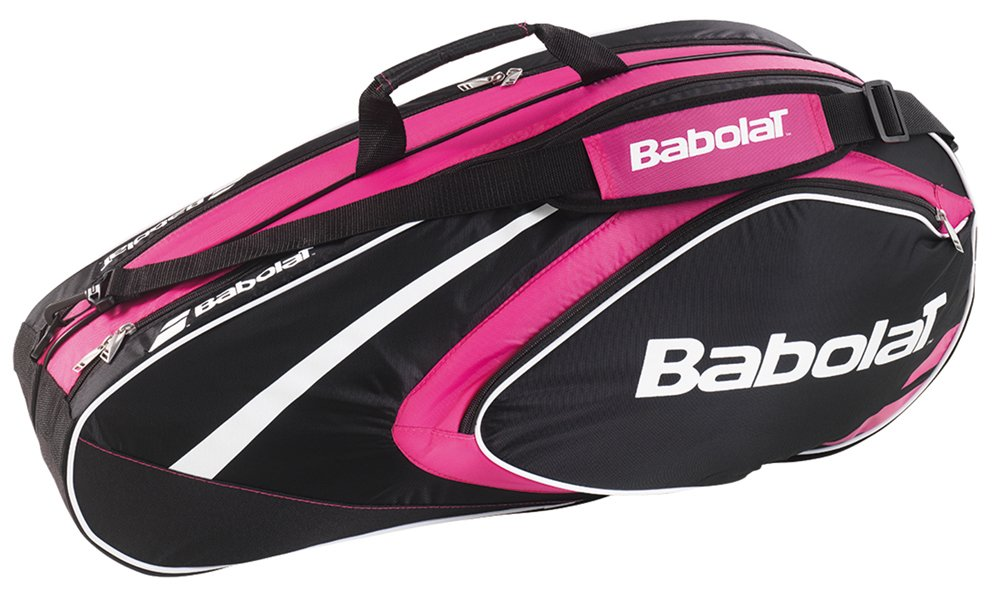 BABOLAT Club Line 6 Racquet Bag, Black/Pink