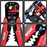 """WGGE WG-014 Self-Adjusting Insulation Wire Stripper. For stripping wire from AWG 10-24, Automatic Wire Stripping Tool/Cutting Pliers Tool, Automatic Strippers with Cutters & Crimper 8"""""""