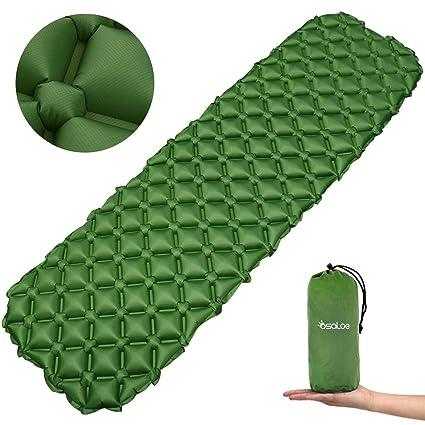 Osaloe Esterilla Acampada Camping 40D/70D Esterillas Inflables Colchoneta Inflable Impermeable para Acampar para Actividades al Aire Libre para Viajes