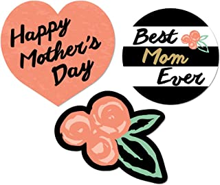 product image for Big Dot of Happiness Best Mom Ever - Mother's Day DIY Shaped Party Cut-Outs - 24 Count