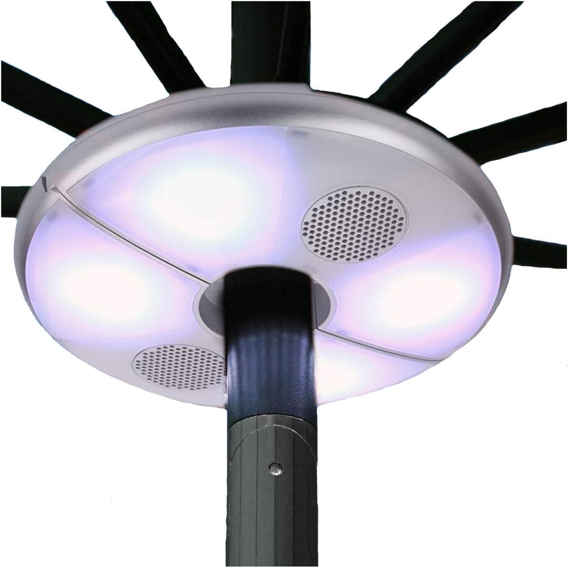 Gazebo Parasol Lights Outdoor Sun Beach Patio Umbrella Led Light Bluetooth Wireless Speakers 2in1 Stereo Speaker Waterproof Rechargeable Amazon Co Uk Kitchen Home
