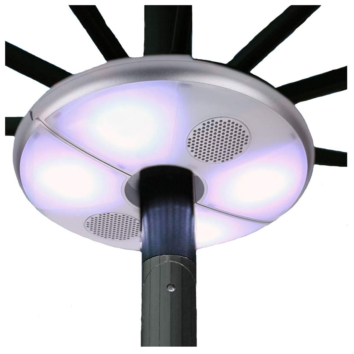 Gazebo Parasol Lights Outdoor Sun Beach Patio Umbrella Led Light Bluetooth Wireless Speakers 2in1 Stereo Speaker Waterproof Rechargeable Buy Online In Dominica At Dominica Desertcart Com Productid 53297429