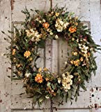 24'' Spring and Everyday Wreath with Hyndrangeas and Daisies