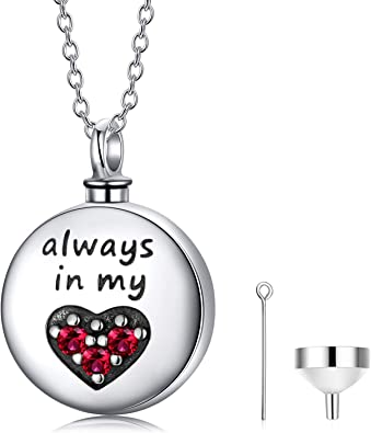 Pet ashes pendant locket Personalised Pet loss gift Sterling silver cremation urn Pet memorial jewelry Cremation ashes keepsake necklace