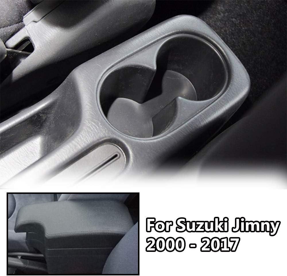 Zweilagige Schwarze Leder Armlehne Für Jimny 2000 2017 Mittelkonsole Aufbewahrungsbox Armlehne Auto