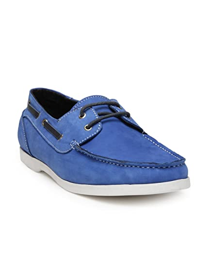 532f8f0cc5dc HATS OFF ACCESSORIES Genuine Leather Blue Boat Shoes  Buy Online at ...