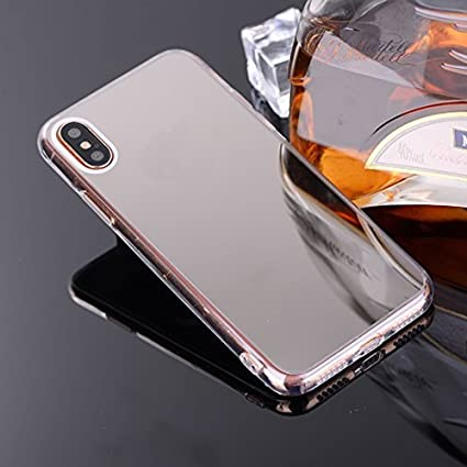 innovative design 1fccf 3e17b Mirror Case for iPhone X,Ultra Slim TPU Mirror Cover for iPhone X,Leecase  Bright Reflection Radiant Stylish Luxury Silicone Shinny Bling Mirror Back  ...