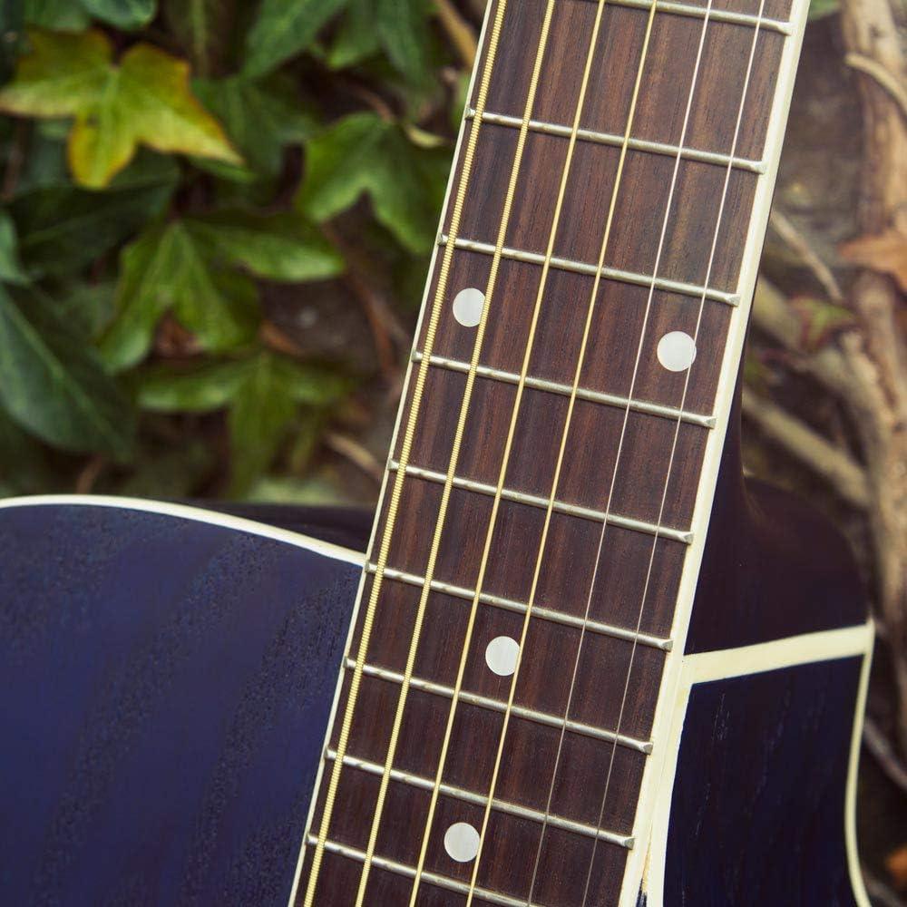 con preamplificador F-4T, afinador digital con XLR, salida para jack y funda de transporte Lindo Willow Guitarra electroac/ústica