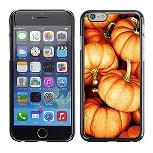 PC/Aluminum Funda Carcasa protectora para Apple Iphone 6 Plus 5.5 pumpkin Halloween orange fall autumn / JUSTGO PHONE PROTECTOR