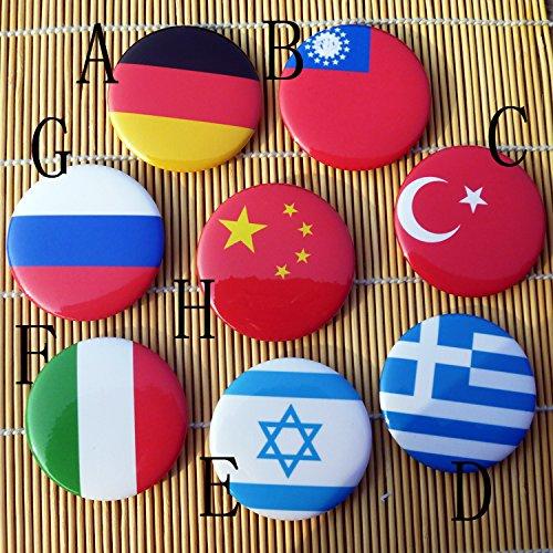 Flag badges made to order custom flag pin Germany, China and Italy flag brooch badge tinplate Custom China Plates