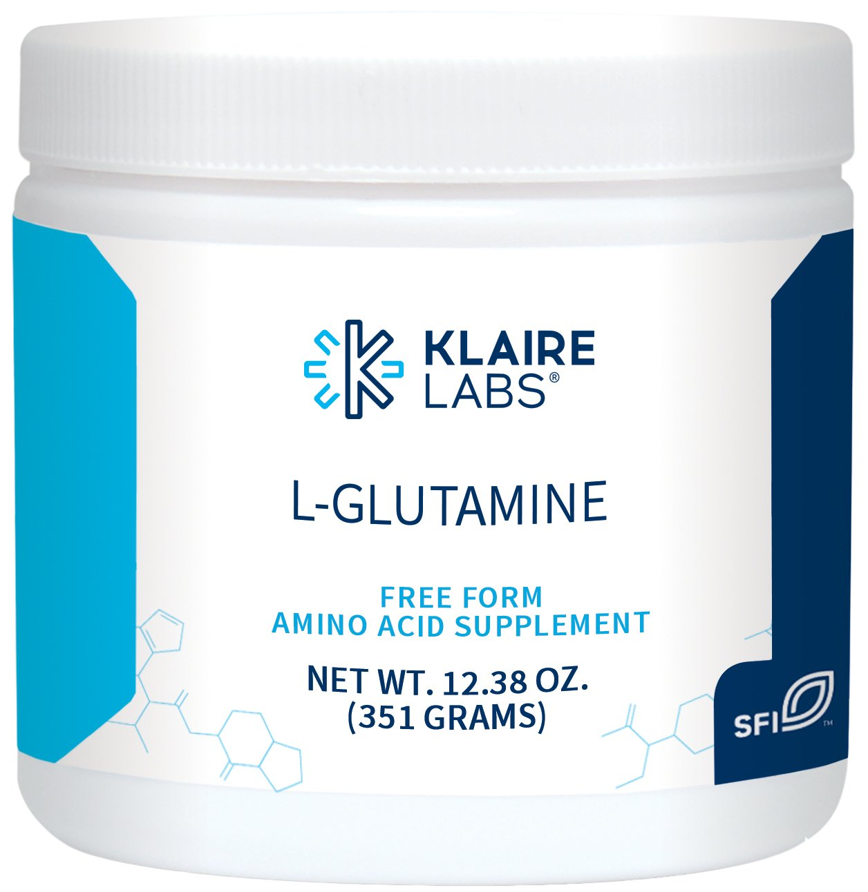 Klaire Labs L-Glutamine Powder - 5000 mg Free-Form & Hypoallergenic Amino Acid Support for Intestinal Immune Function, Dairy & Gluten-Free (351 G / 60 Servings) by Klaire Labs