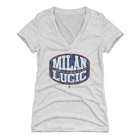 Amazon.com   500 LEVEL Milan Lucic Women s Shirt - Edmonton Hockey ... 8cee8d893