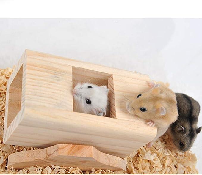 Buty Hamster Chew Giocattoli Naturali del Criceto di Legno Appeso Giocattolo DellOscillazione Scala di Risalita Casa Nest Giocattoli per Piccoli Animali