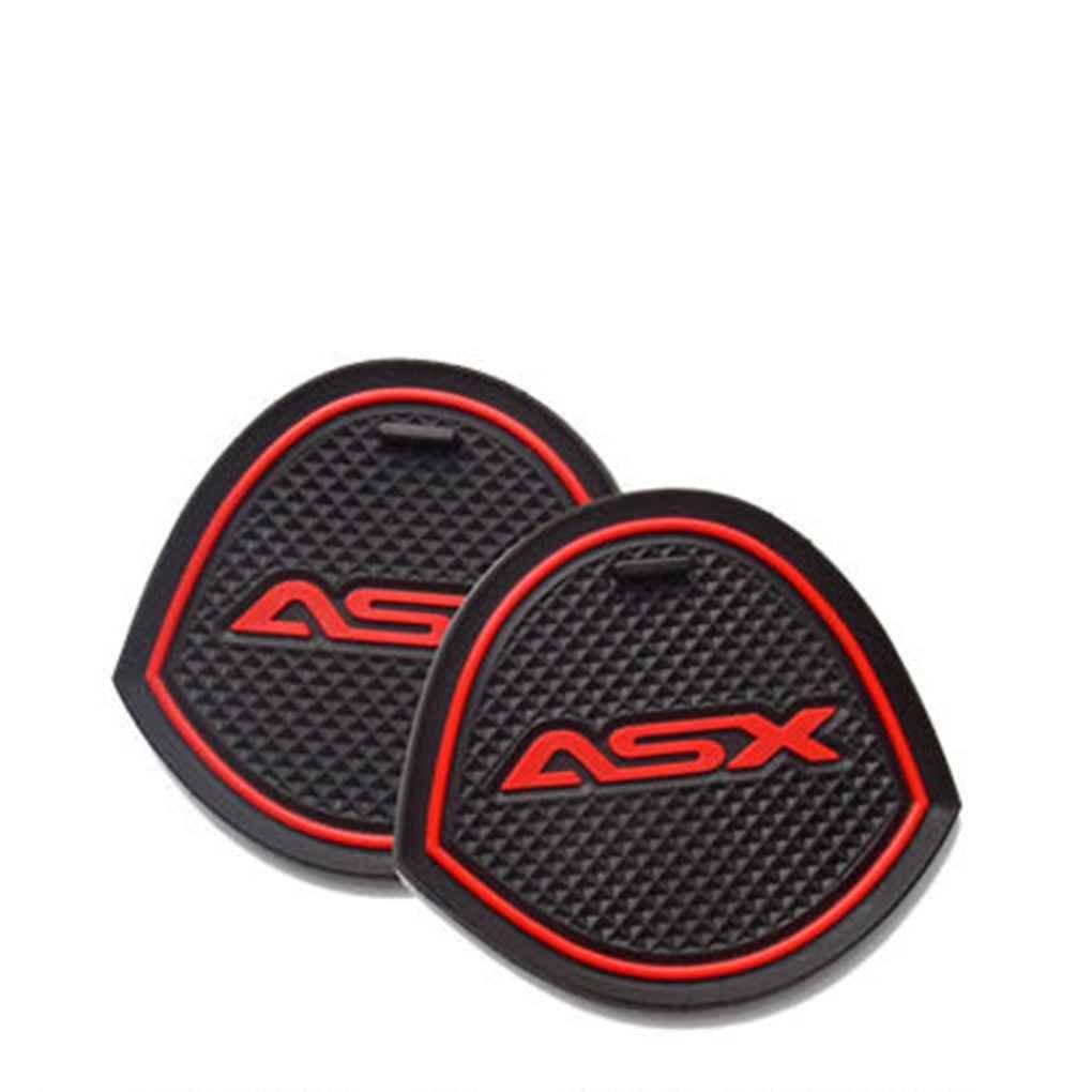 Sunlera For Mitsubishi ASX 13-15 Anti Slip Door Groove Gate Slot Pad Mat Kit Car Slip Protection Cup Mats Decoration